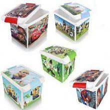 جعبه طرحدار بزرگ کودک هوم کت