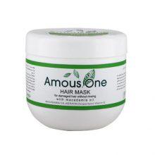 ماسک مو بدون آبکشی مخصوص موهای آسیب دیده آموس وان (حاوی روغن ماکادمیا)