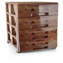 دراور لارج ۵ طبقه مدل BL طرح چوب هوم کت