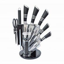 سرویس چاقو ۹ پارچه آشپزخانه استیل قدیم دلمونتی مدل DL1520