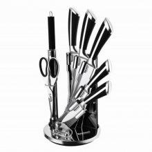 سرویس چاقو ۹ پارچه آشپزخانه استیل دلمونتی  مدل DL1540